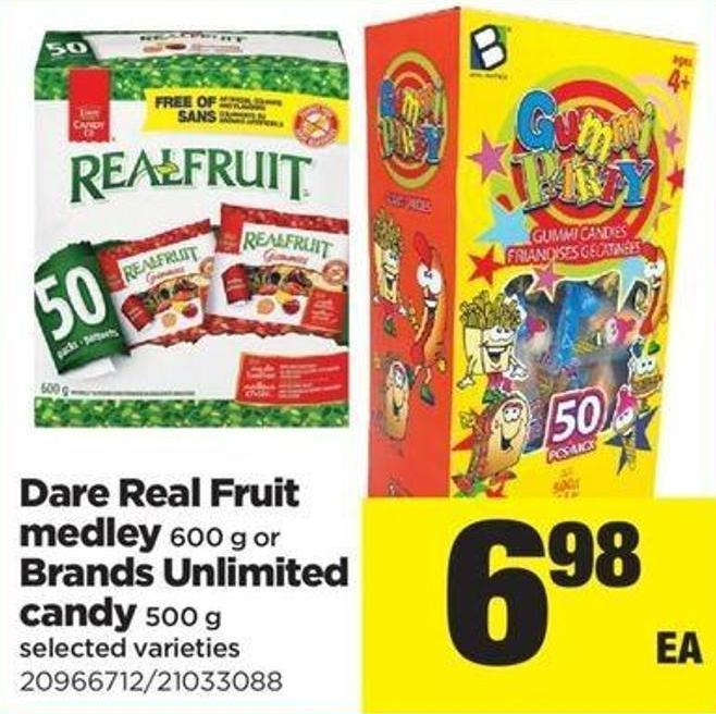 Dare Real Fruit Medley - 600 G Or Brands Unlimited Candy - 500 G