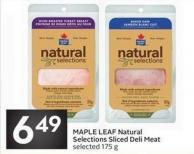 Maple Leaf Natural Selections Sliced Deli Meat