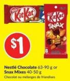 Nestlé Chocolate 63-90 g or Snax Mixes 40-50 g