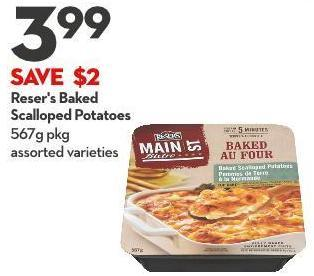 Reser's Baked  Scalloped Potatoes 567g Pkg