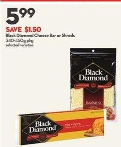 Black Diamond Cheese Bar or Shreds