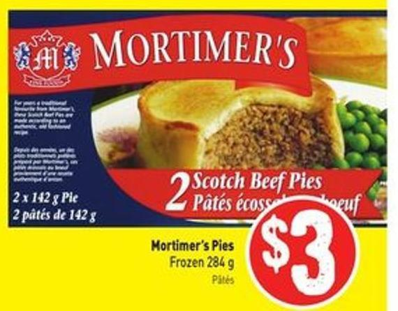 Mortimer's Pies Frozen 284 g