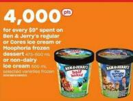 Ben & Jerry's Regular Or Cores Ice Cream Or Moophoria Frozen Dessert - 473-500 Ml Or Non-dairy Ice Cream - 500 Ml