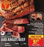 Your Fresh Market 100% Canadian Beef Rib Grilling Steak