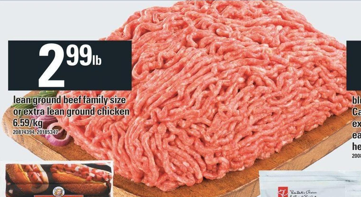 Lean Ground Beef Family Size Or Extra Lean Ground Chicken