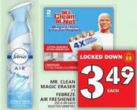 Mr. Clean Magic Eraser Or Febreze Air Freshener