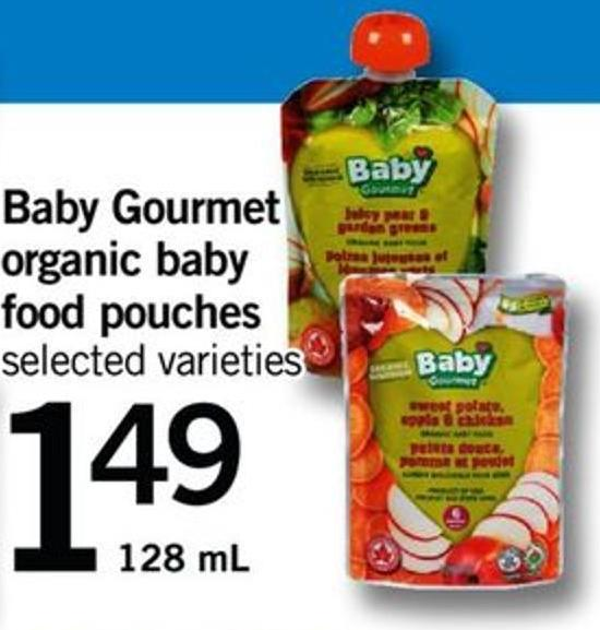 Baby Gourmet Organic Baby Food Pouches - 128 Ml