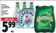 Perrier Or San Pellegrino Carbonated Water An Commun