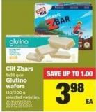 Clif Zbars - 5x36 G Or Glutino Wafers - 130/200 G