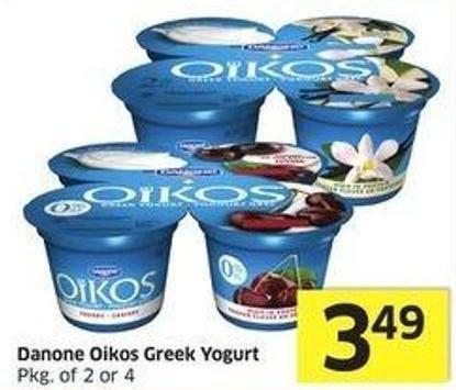 Danone Oikos Greek Yogurt Pkg of 2 or 4