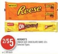 Hershey's  Snack Size Chocolate Bars 10's
