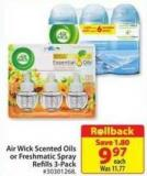 Air Wick Scented Oils or Freshmatic Spray Refills 3-pack