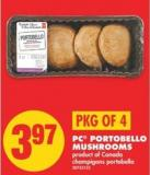 PC Portobello Mushrooms - Pkg of 4