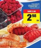 Fresh Atlantic Salmon Portions - 4 Oz Or Lobster Tails - 2-3 Oz