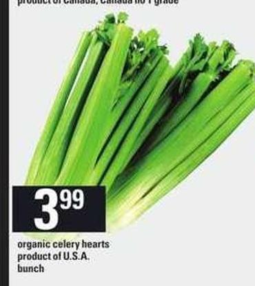 Organic Celery Hearts - Bunch