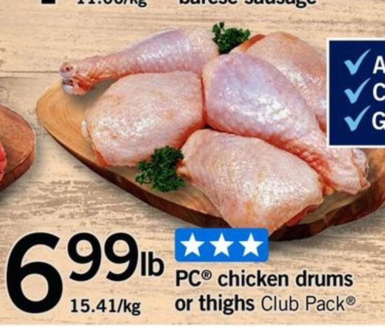 PC Chicken Drums Or Thighs