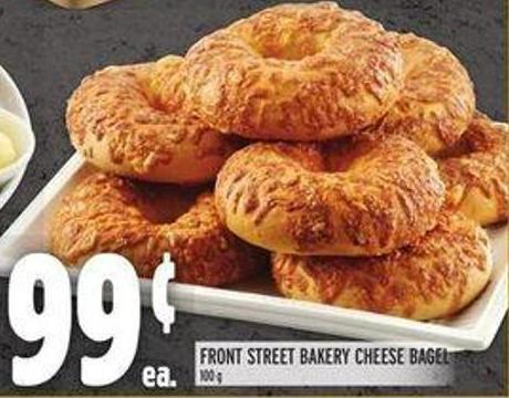 Front Street Bakery Cheese Bagel