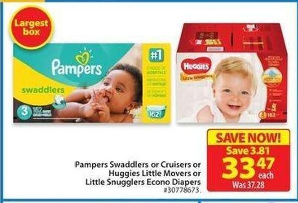 Pampers Swaddlers or Cruisers