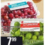 PC Red Or Green Grapes - 2 Lb