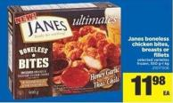 Janes Boneless Chicken Bites - Breasts Or Fillets - 550 G-1 Kg