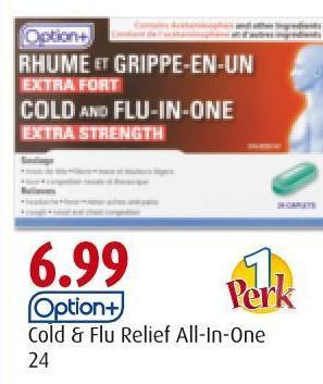 Option+ Cold & Flu Relief All-in-one 24