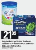 Huggies Pull-ups 50-54's - Goodnites Underwear 24-32's Or Similac Go&grow 850 G