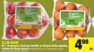 PC Organics Granny Smith Or Royal Gala Apples - Anjou Or Bosc Pears - 3 Lb Bag