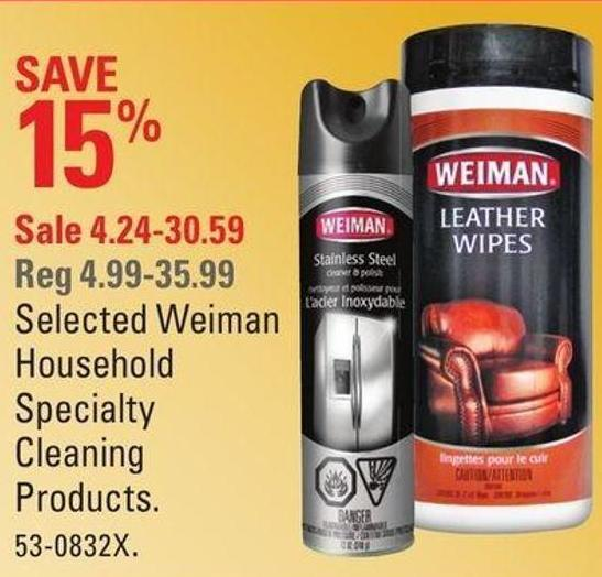 Selected Weiman Household Specialty Cleaning Products