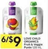 Love Child Organics Fruit & Veggie Purée 128 mL