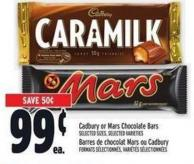 Cadbury Or Mars Chocolate Bars