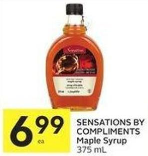 Sensations By Compliments Maple Syrup 375 mL