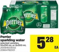 Perrier Sparkling Water - 10x250 mL or 6x500 mL