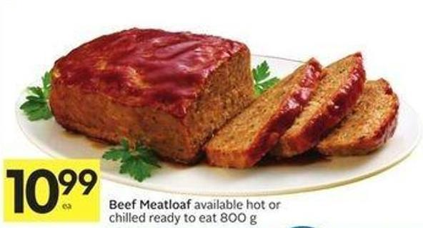 Beef Meatloaf Available Hot or Chilled Ready To Eat 800 g