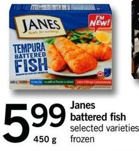 Janes Battered Fish - 450 G