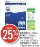 Biotrue (2 X 300ml) - Renu (2 X 355ml) Multipurpose Solution - Soothe or Biotrue Eye Drops