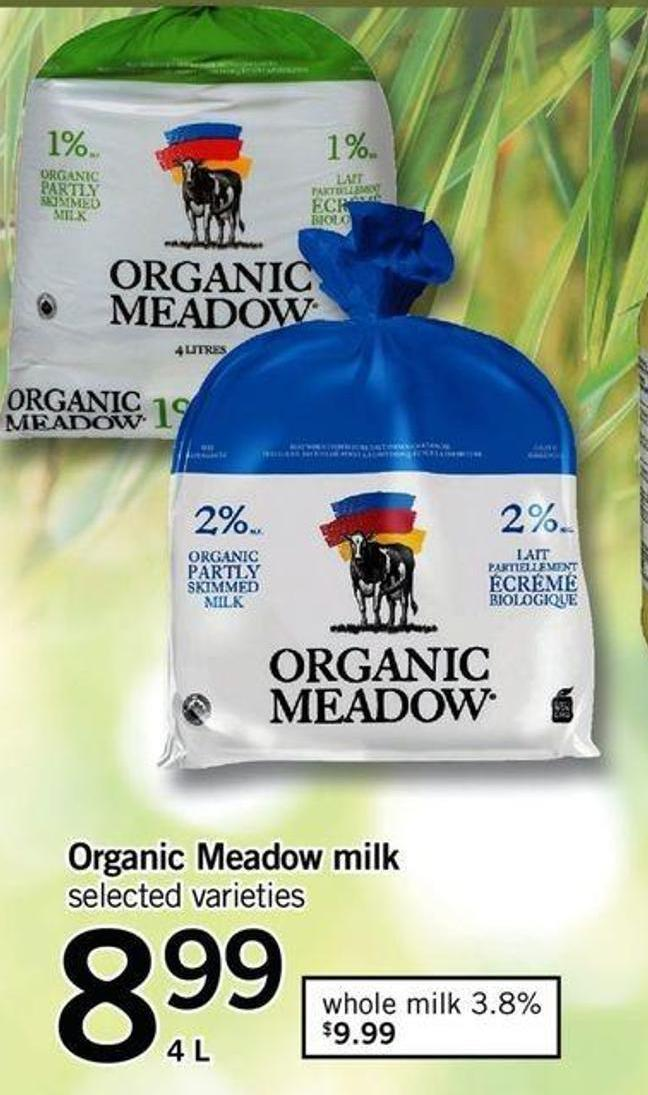 Organic Meadow Milk - 4 L