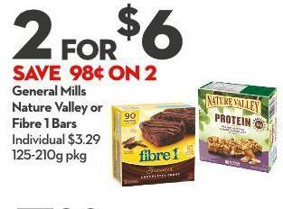 General Mills Nature Valley or Fibre 1 Bars