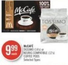 Mccafé  Tassimo (14's) or Keurig Compatible (12's) Coffee PODS