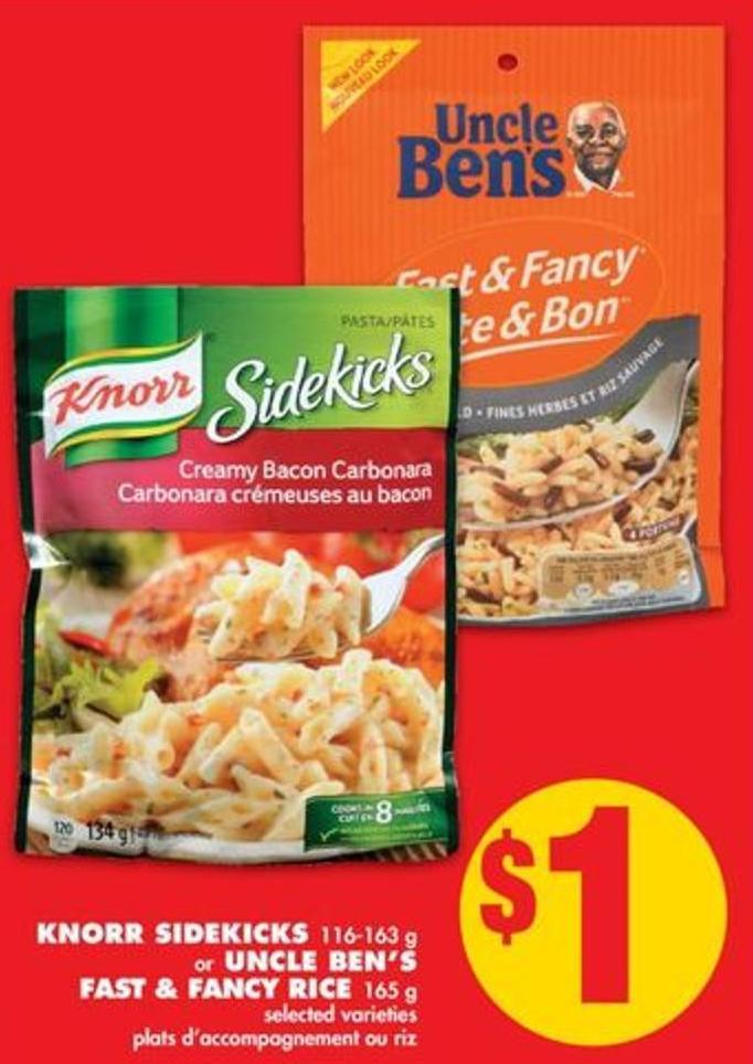 Knorr Sidekicks - 116-163 g Or Uncle Ben's Fast & Fancy Rice - 165 g