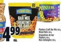 Planters Craft Bar Mix 550 g Mixed Nuts 200 g