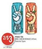 Peace Tea King Can Beverages 695ml