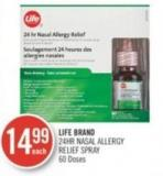 Life Brand 24hr Nasal Allergy Relief Spray