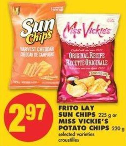 Frito Lay Sun Chips - 225 G Or Miss Vickie's Potato Chips - 220 G