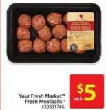 Your Fresh Market Fresh Meatballs