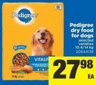 Pedigree Dry Food For Dogs - 10.4-14 Kg