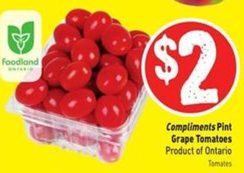 Compliments Pint Grape Tomatoes Product of Ontario