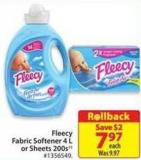 Fleecy Fabric Softner 4 L or Sheets 200s