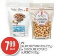 PC Jalapeno Pistachios (225g) or Chocolate Covered Almonds (700g)