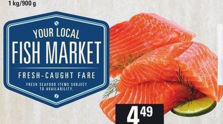 Fresh Atlantic Salmon Portions Plain Or Marinated 113 G Or Canadian Cove Live Mussels 907 G