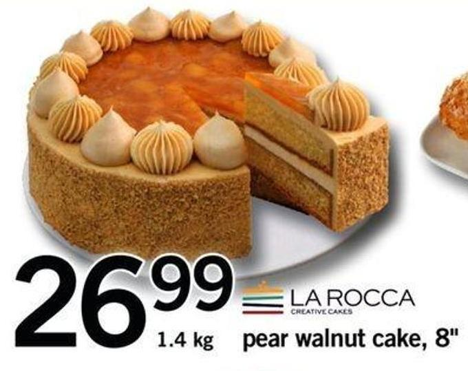 Pear Walnut Cake - 8in - 1.4 Kg
